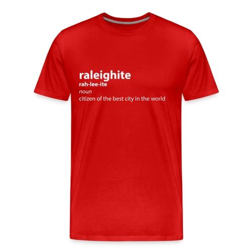 raleighitewhite png - Men's Premium T-Shirt