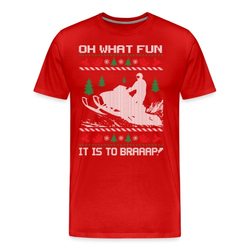 Snowmobile Fun Christmas - Men's Premium T-Shirt