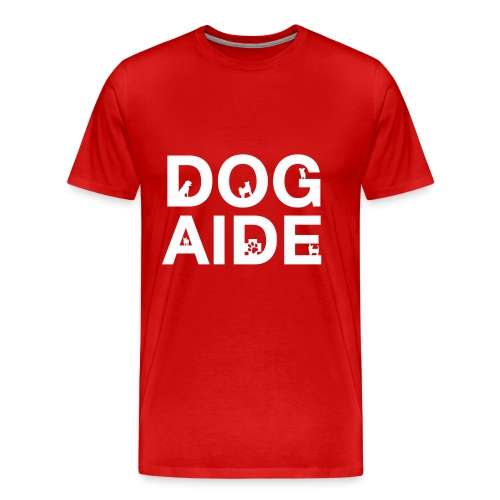 dog aide NEW white - Men's Premium T-Shirt