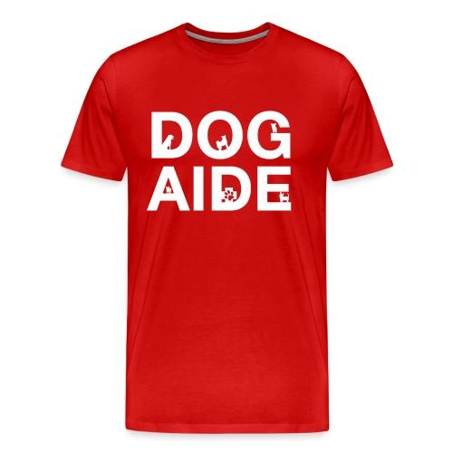 dog aide NEW white - Men's Premium T-Shirt