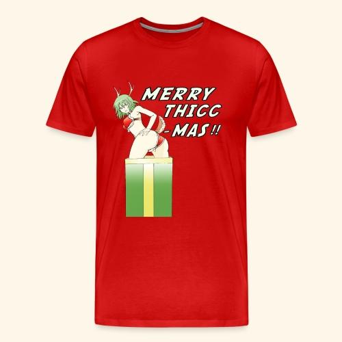 Christmas Art - Reindeer Merry Thicc Mas - Men's Premium T-Shirt