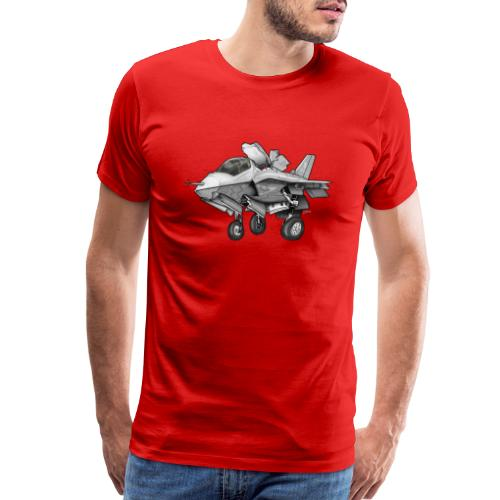 F-35B Lighting II Joint Strike Fighter Cartoon - Men's Premium T-Shirt