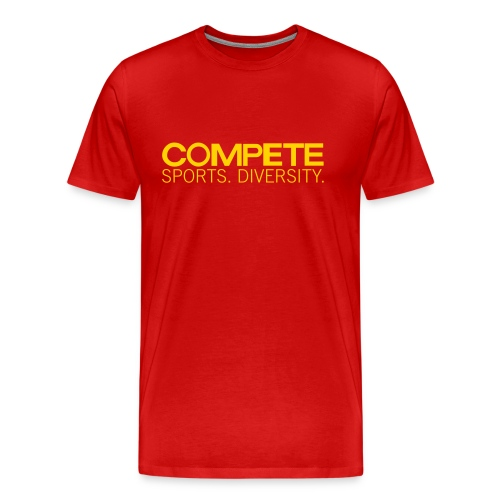 speadshirt compete logo red - Men's Premium T-Shirt