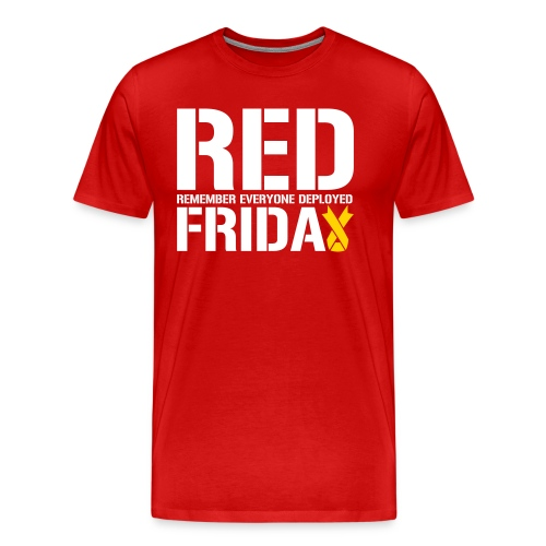 Red Friday Remember Everyone Deployed - Men's Premium T-Shirt