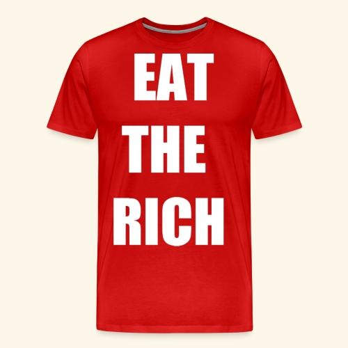 eat the rich wht - Men's Premium T-Shirt