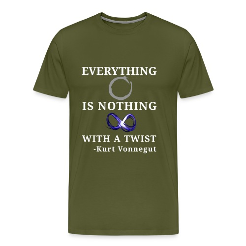 everything is nothing with a twist png - Men's Premium T-Shirt