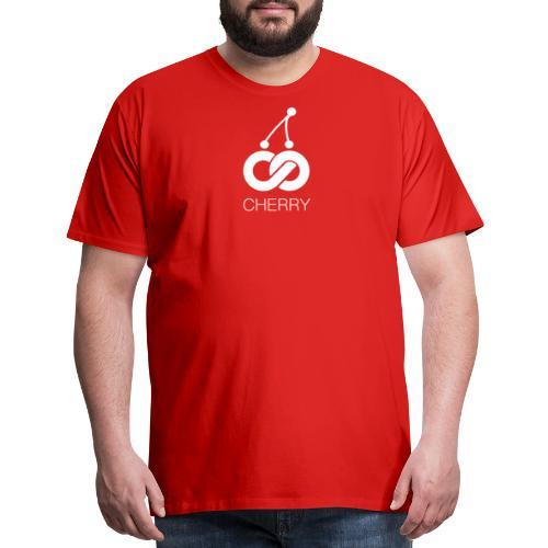 Cherry White Logo - Men's Premium T-Shirt