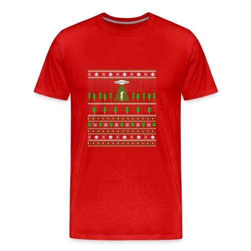 UFO ALIEN UGLY Noël - T-shirt premium pour hommes