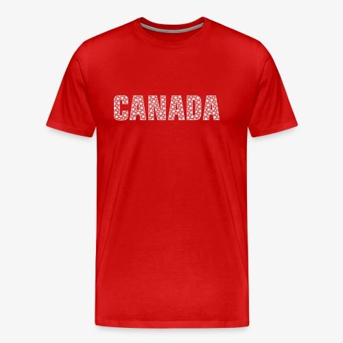 Canada Pattern-Filled Text White - Men's Premium T-Shirt