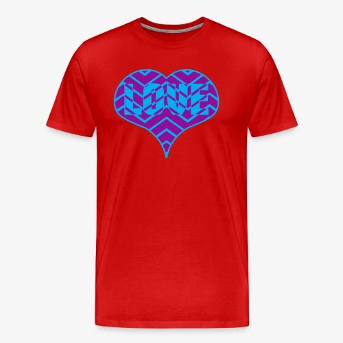 CHEVRON LOVE HEART - Men's Premium T-Shirt