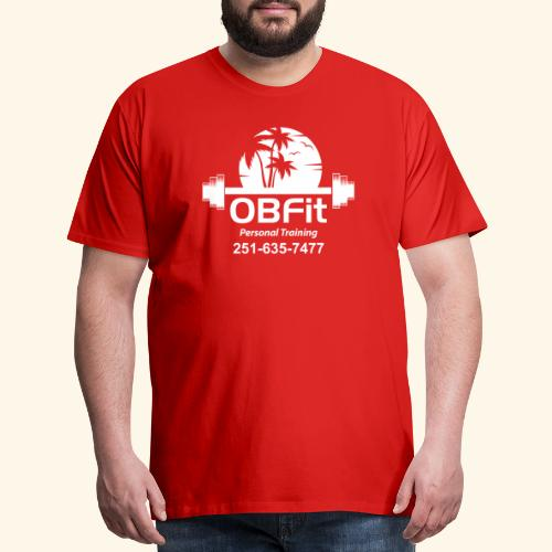 OB Fit with pn white personal training - Men's Premium T-Shirt