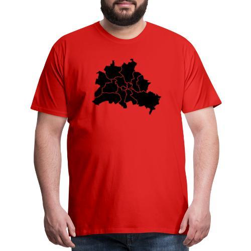 Berlin map, districts - Men's Premium T-Shirt
