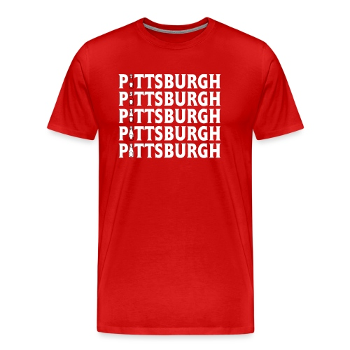 Ketch Up in PGH (Red) - Men's Premium T-Shirt
