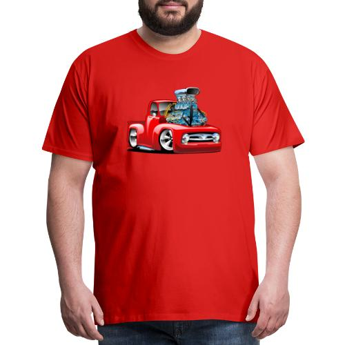 American Classic Hot Rod Pickup Truck Cartoon - Men's Premium T-Shirt