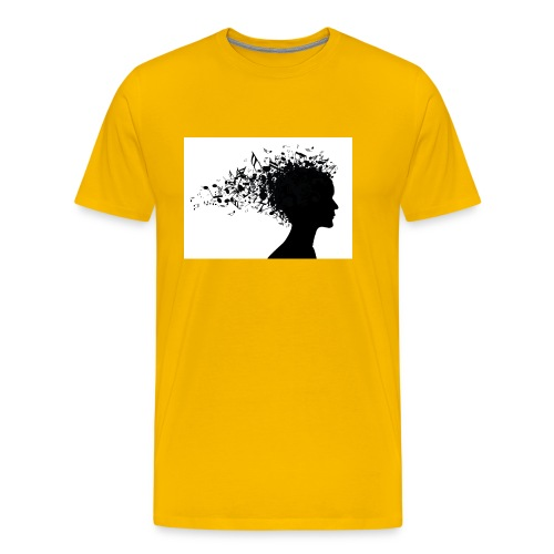 music through my head - Men's Premium T-Shirt