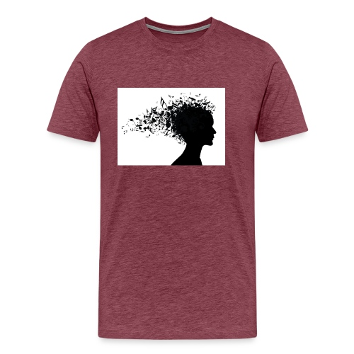 music through my head - Men's Premium T-Shirt