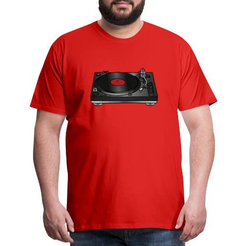 Record player, turntable - Men's Premium T-Shirt