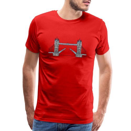 London tower bridge, landmark of London UK - Men's Premium T-Shirt