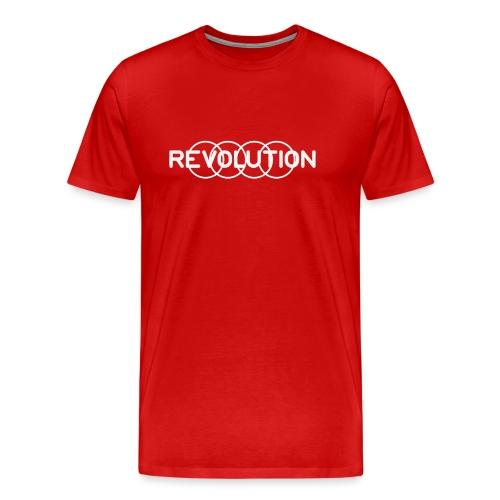 White Revolution Logo - Men's Premium T-Shirt