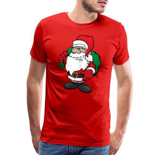 Santa Claus Cartoon Illustration - Men's Premium T-Shirt