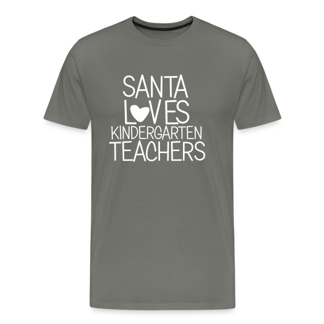 Santa Loves Kindergarten Teachers Christmas Tee