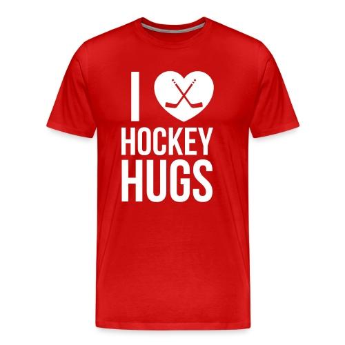 I [Heart] Hockey Hugs - Men's Premium T-Shirt
