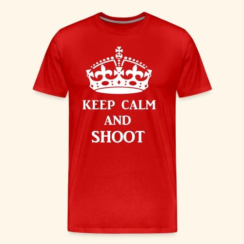 keep calm shoot wht - Men's Premium T-Shirt