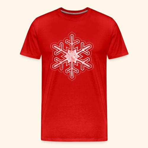 Grunge Christmas Snowflake - Men's Premium T-Shirt