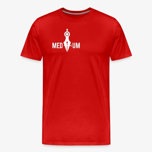 Medium (Pen Tool and Compass) - Men's Premium T-Shirt