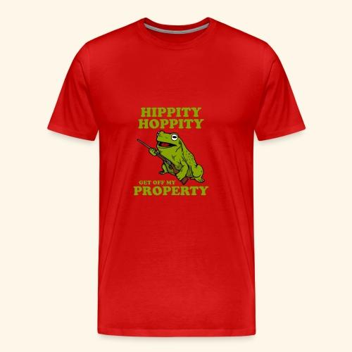 hippity hoppity abolish private property - Men's Premium T-Shirt