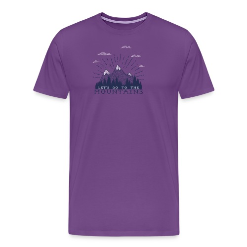 Adventure Mountains T-shirts and Products - Men's Premium T-Shirt