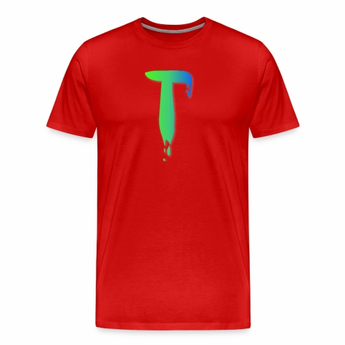 Colored Tlicker Logo - Men's Premium T-Shirt