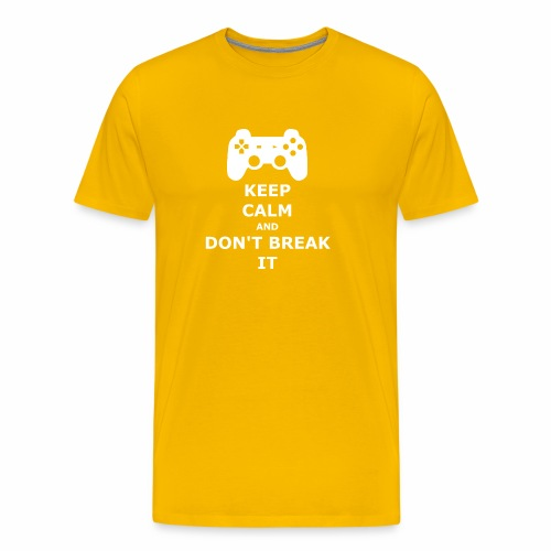 Keep Calm and don't break your game controller - Men's Premium T-Shirt
