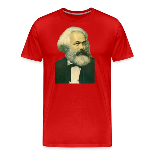 Karl Marx Portrait - Men's Premium T-Shirt