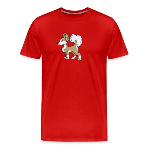 Long hair chihuahua cartoon profile - Men's Premium T-Shirt