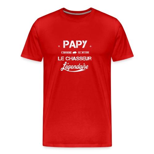 Grandpa the legendary hunter frieze - Men's Premium T-Shirt