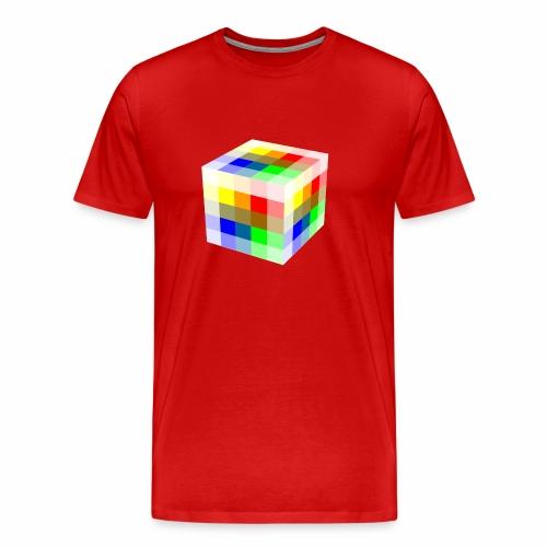 Multi Colored Cube - Men's Premium T-Shirt
