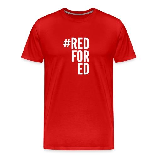 Red For Ed logo - Men's Premium T-Shirt