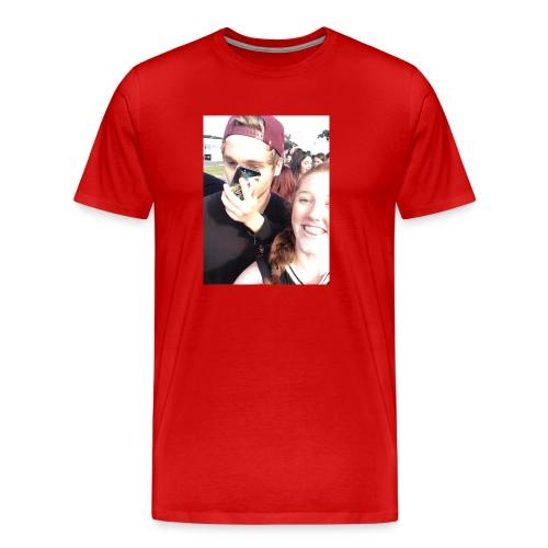 Luke Hemmings with a phone in his face - Men's Premium T-Shirt