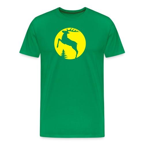 stag deer moose elk antler antlers horn horns - Men's Premium T-Shirt