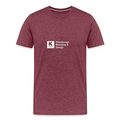 KBD Signature_blanc - Men's Premium T-Shirt