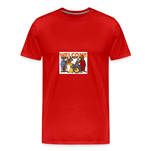 african welcome you - Men's Premium T-Shirt