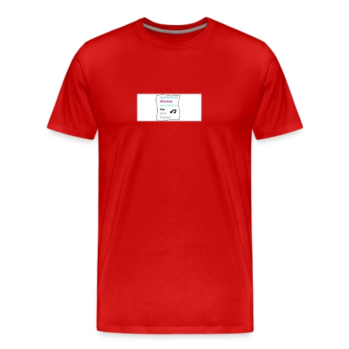 who likes this - Men's Premium T-Shirt