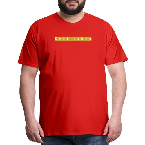 Keef Caben Gold Block - Men's Premium T-Shirt