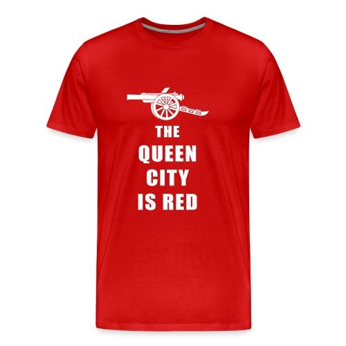 QC is Red - Men's Premium T-Shirt