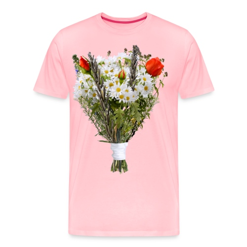 a bouquet of flowers - Men's Premium T-Shirt