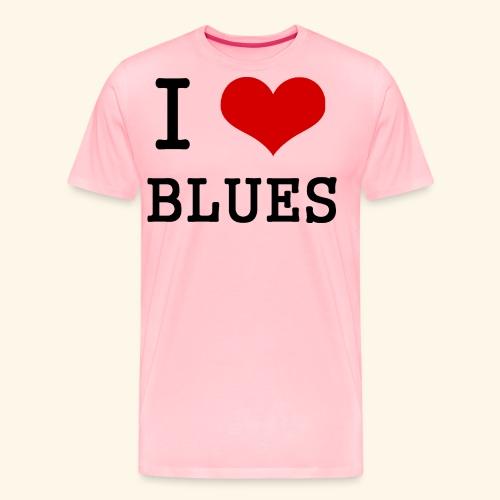 I Heart Blues - Men's Premium T-Shirt