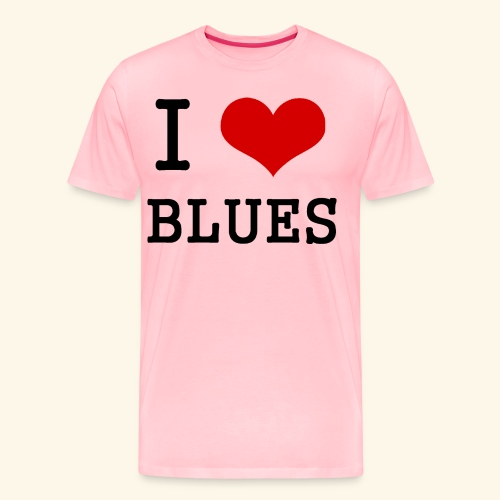 I Heart Blues - Men's Premium T-Shirt
