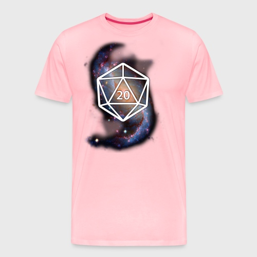 Astronomy Geek d20 Galaxy - Men's Premium T-Shirt