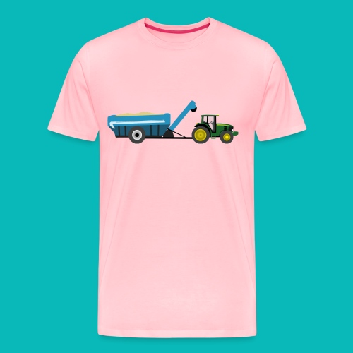 tractor grain cart png - Men's Premium T-Shirt